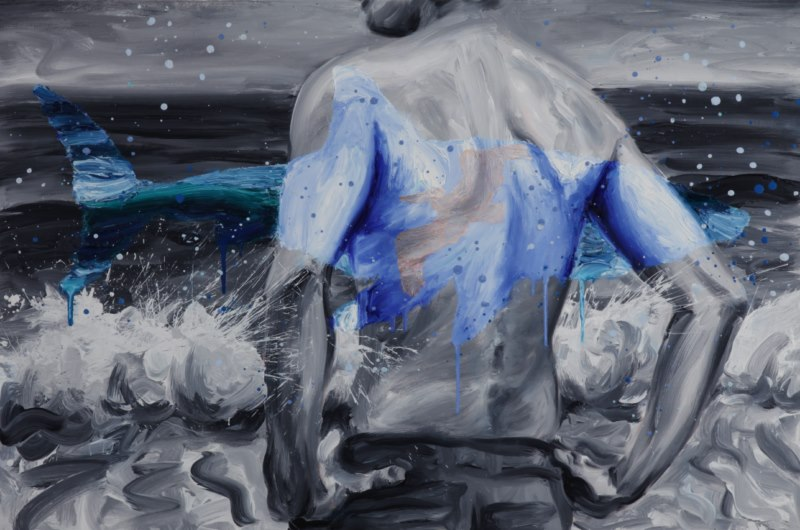 The Beach (2009), oil on canvas, 24 x 36 inches