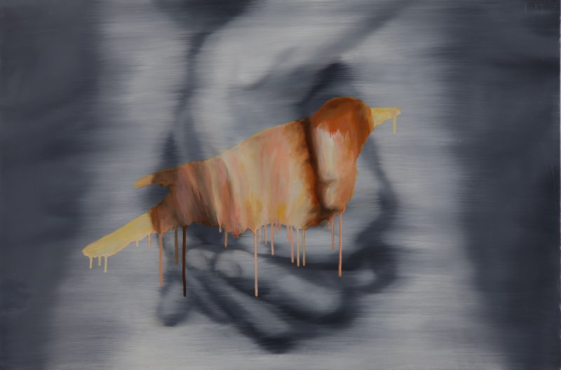 Nest (2009), oil on canvas, 24 x 36 inches