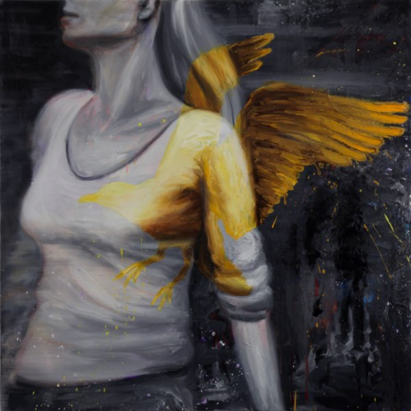 Angel (2010), oil on canvas, 36 x 36 inches