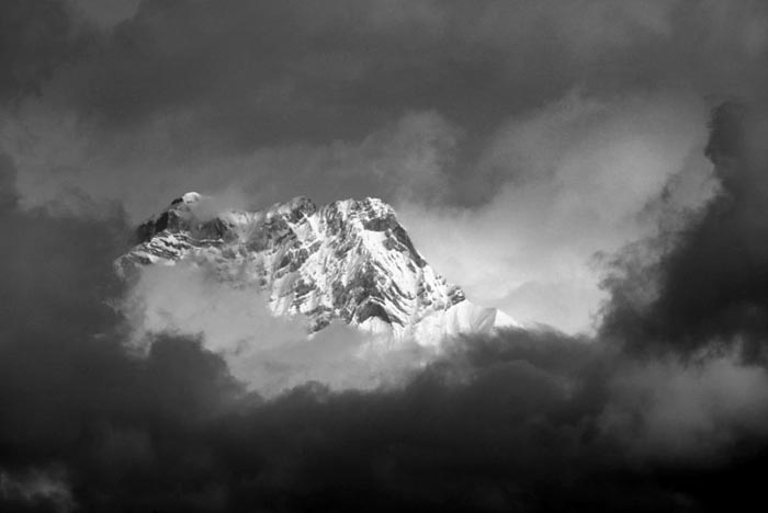 Cascade Mountain Shrouded in Clouds, Banff
