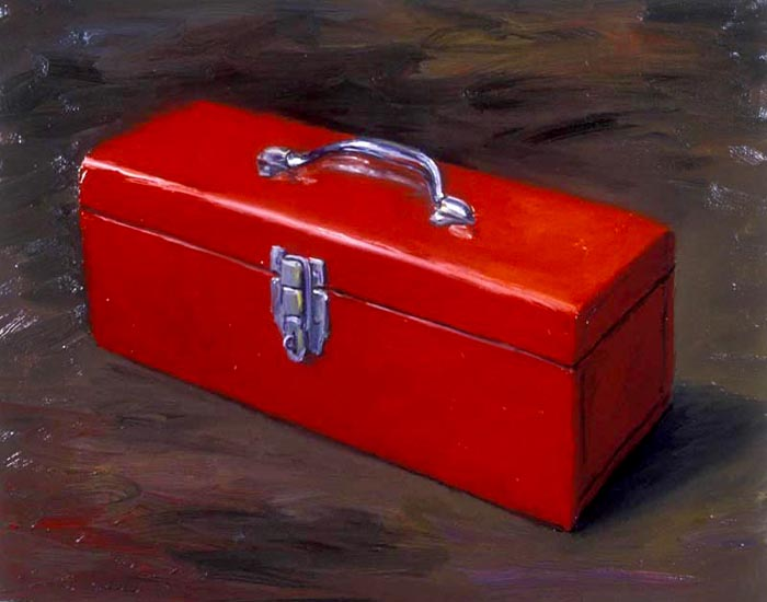 Tool Box (1992), oil on paper, 22x29 inches