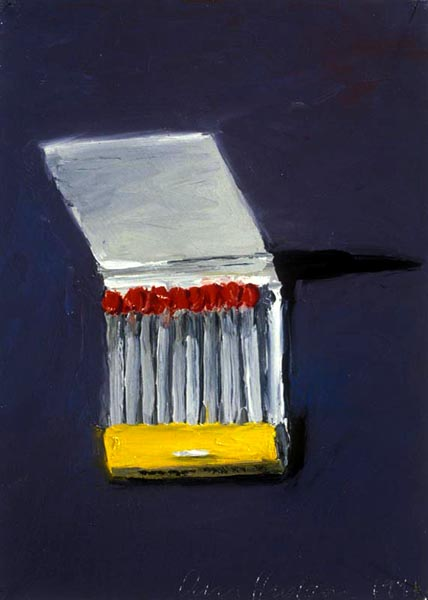 Book of Matches (1991), oil on paper, 11x7 inches