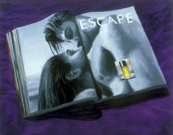 Escape (1993), oil on panel, 24x30 inches