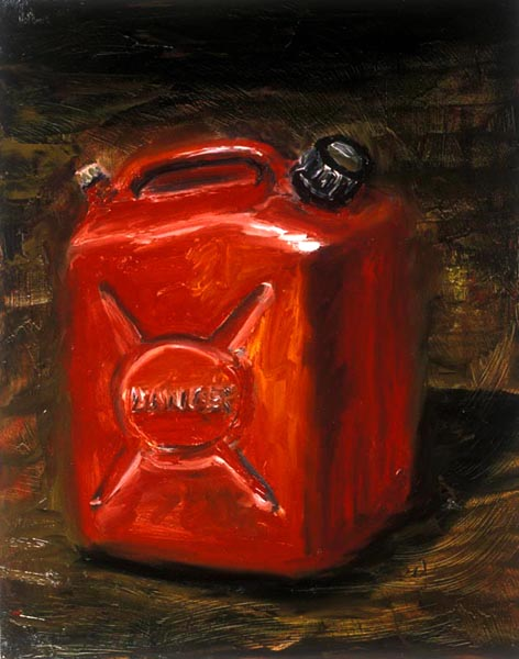 Gas Can (1991), oil on panel, 24x21 inches