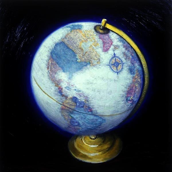 Globe (1994), oil on panel, 24x24 inches