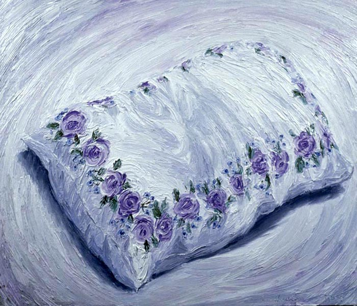 Pillow (1993), oil on panel, 24x30 inches
