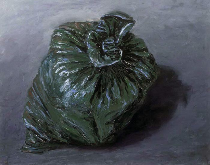Garbage Bag (1992), oil on panel, 22x28 inches