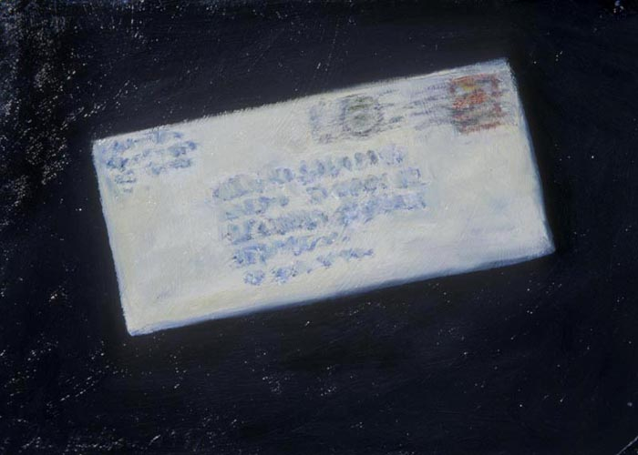 Letter (1991), oil on paper, 11x15 inches