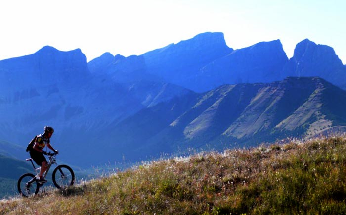 Mountain Biker, Skogan Pass, Alberta - Dave Williams