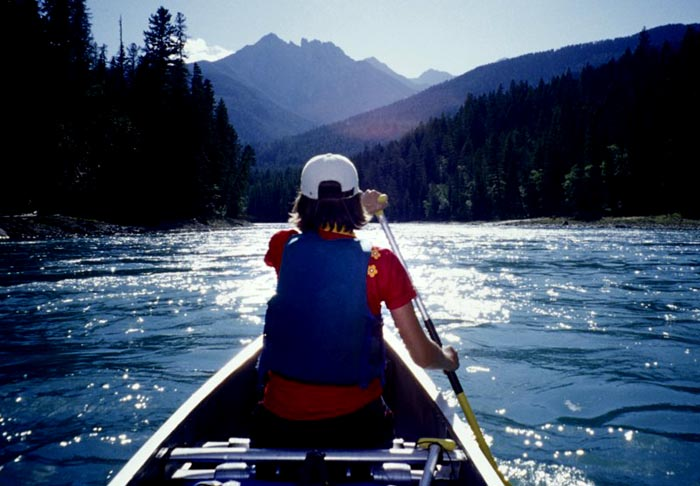 Canoeing, Kootenay River, B.C.