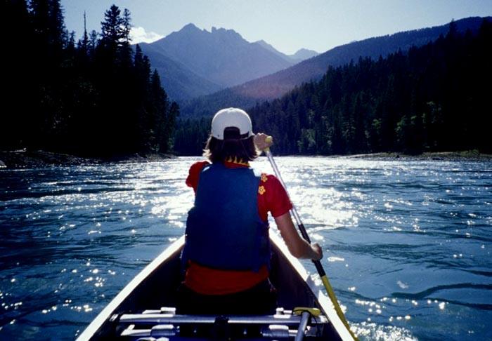 Canoeing, Kootenay River, B.C.