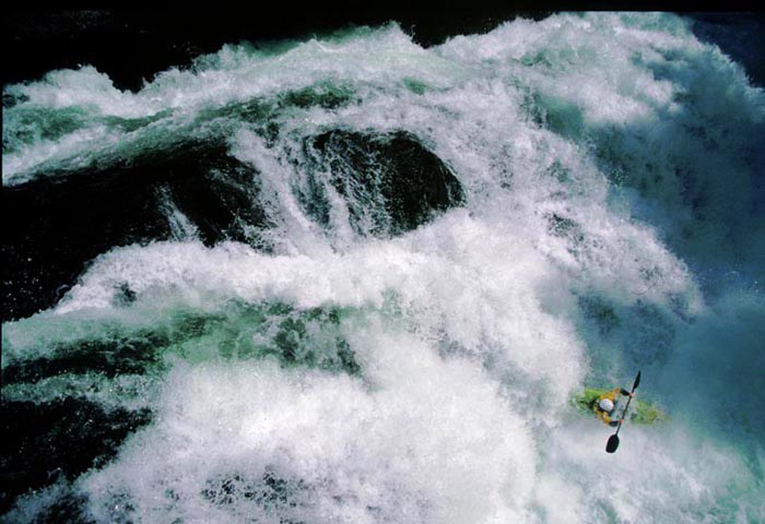 White Water Kayaking, Redearth Creek, Banff, Alberta - Colin Atkin