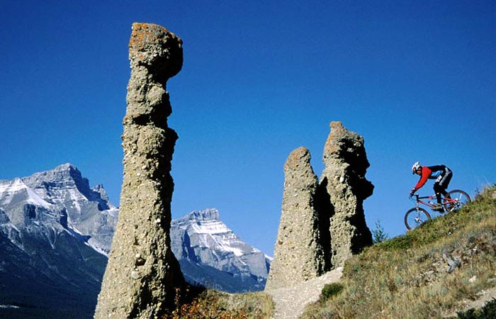Mountain Biking, Canmore Hoodoos - Darren Freeman