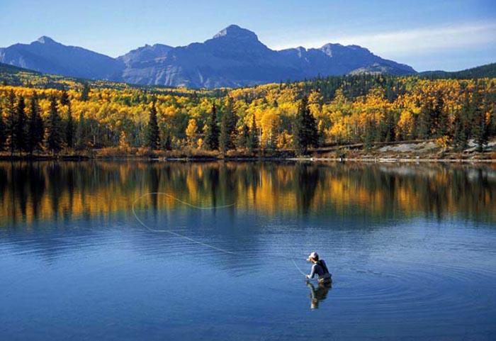 Flyfishing, Nakoda Lake, Alberta - Deo Abesamis