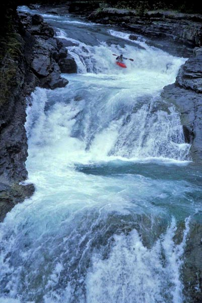 Kayaker, Sheep River, Alberta - Joey Vosburgh