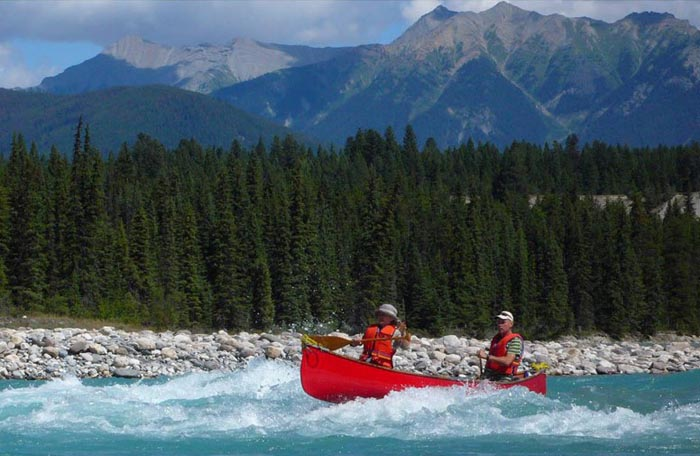 White Water Canoeing, Kootenay River, B.C. - Gord & Nancy