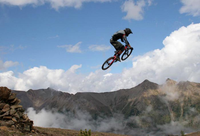 Mountain Biker, Big Air, Invermere, B.C.