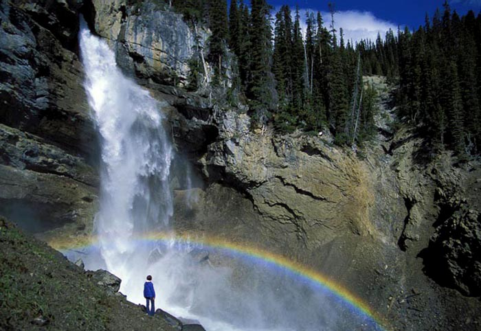 HIker, Panther Falls, Banff