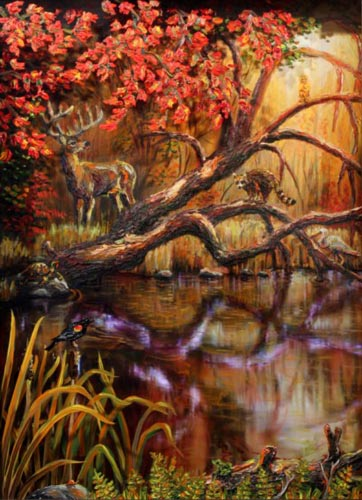 15-four-seasons-fall-with-frame-2008-multimedia-44x35x10-inches-800x600