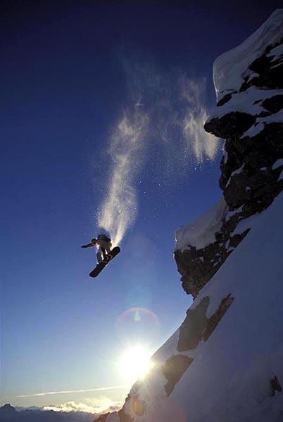 Cliff Drop, Megladawn, Sunshine, Alberta - Andrew Hardingham