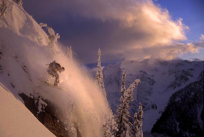 Sunset Drop, Mustang Powder, B.C. - Joey Vosburgh