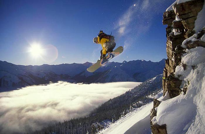 Cliff Drop, Kicking Horse, B.C. - Joey Vosburgh