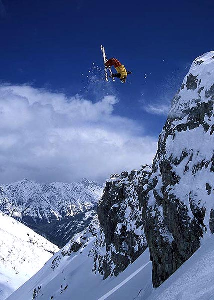 Cliff Backflip, Sunshine Backcountry, Alberta - Eric Hjorleifson